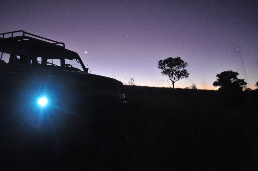 Dawn breaks through the 4x4